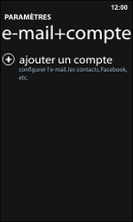 Nokia Lumia 800 / Lumia 900 - E-mail - Configuration manuelle - Étape 5