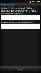 Sony Xperia Sola - E-Mail - Konto einrichten - Schritt 15