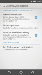 Sony Xperia Z2 - Fehlerbehebung - Handy zurücksetzen - 7 / 11