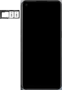 Oppo A53s - Premiers pas - Insérer la carte SIM - Étape 5