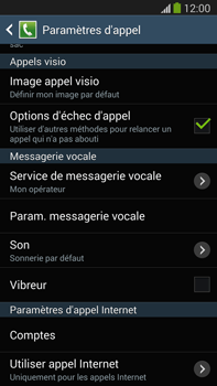 Samsung N9005 Galaxy Note III LTE - Messagerie vocale - Configuration manuelle - Étape 6