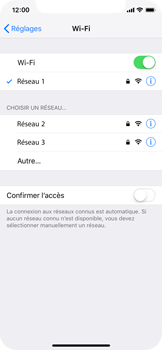 Apple iPhone X - iOS 12 - Wifi - configuration manuelle - Étape 6