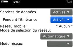 BlackBerry curve 3G - Aller plus loin - Désactiver les données à l'étranger - Étape 5