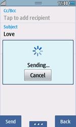Samsung S5250 Wave 525 - E-mail - Sending emails - Step 12