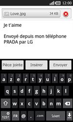 LG P940 PRADA phone by LG - E-mail - Envoi d